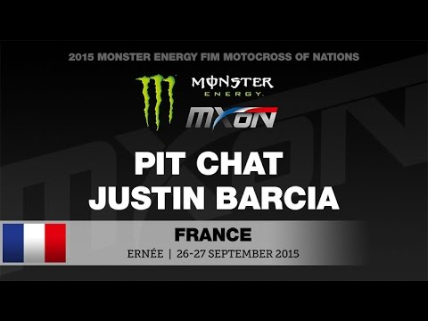 Pit Chat with Justin Barcia of Monster Energy MXoN Ernèe France