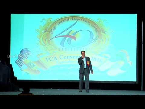 NATA Secretary Rami Reddy speaking at Telugu Cultural Association Houston - Convention 2016