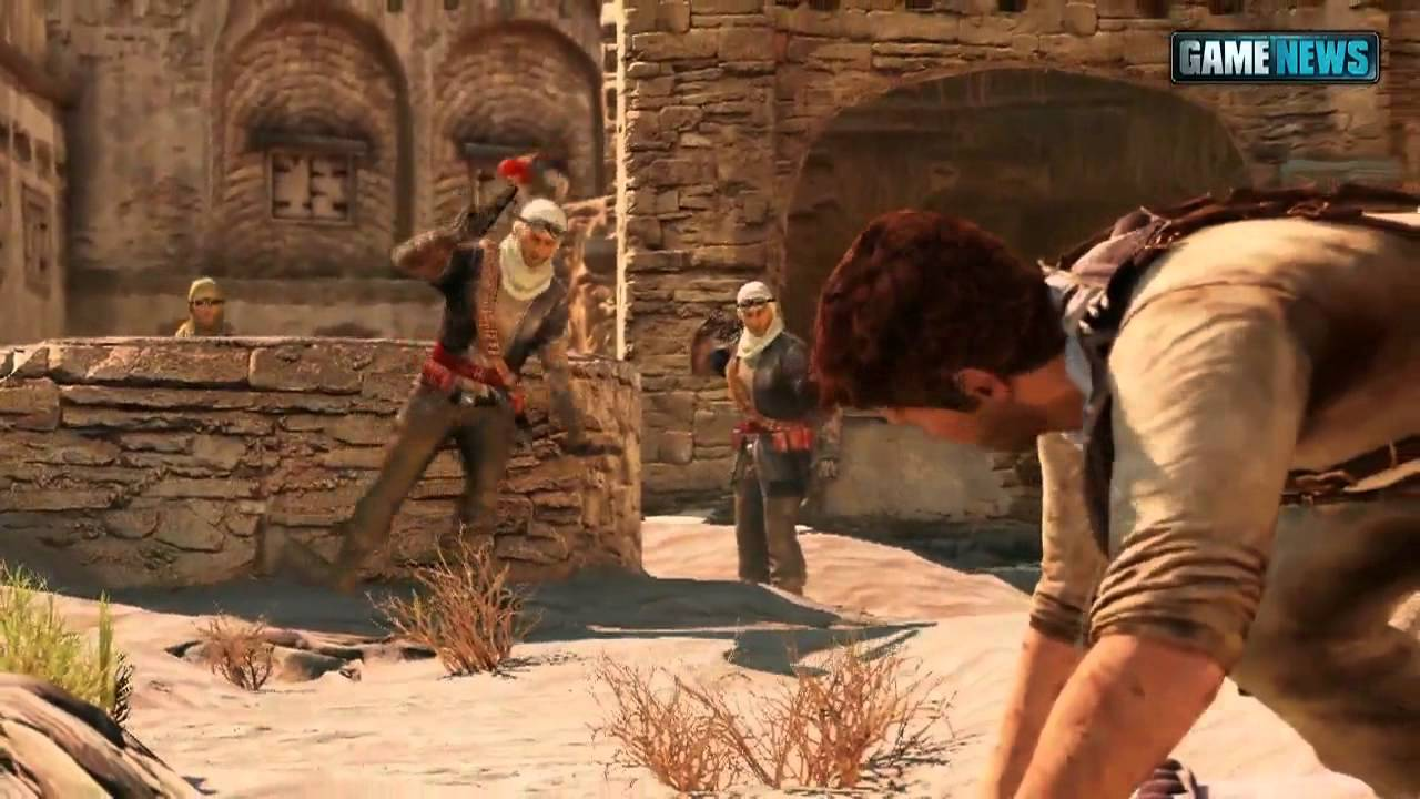 Uncharted 3 5 Min Desert Gameplay Youtube
