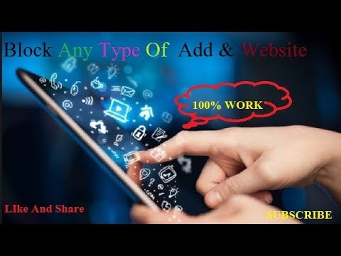 How To Block Any Type Of Ads & Website    On Anodroid Mobile Or  Computer(Pc) / 100% Working