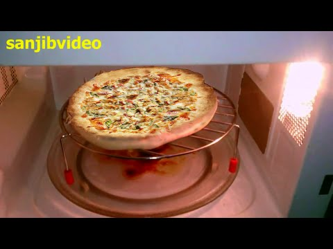 How to Make Chicken Pizza Step By Step In Microwave Oven