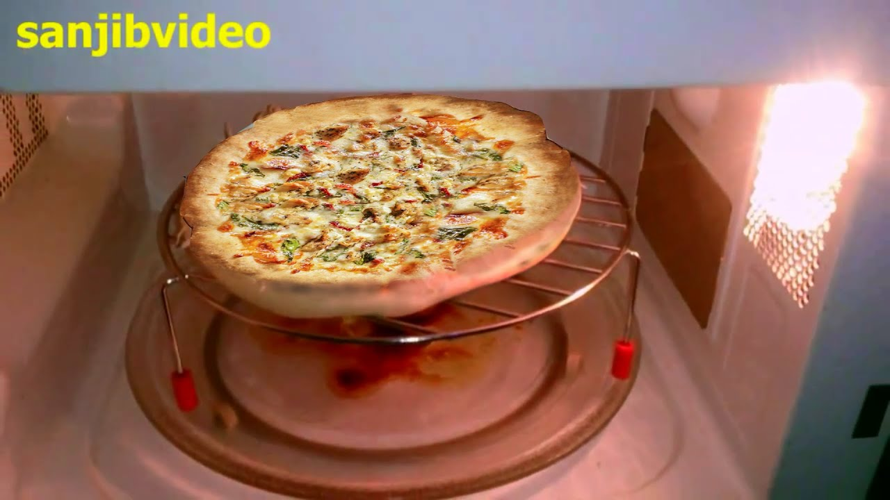 Pizzastand Oven How To Make Chicken Pizza Step By Step In Microwave Oven