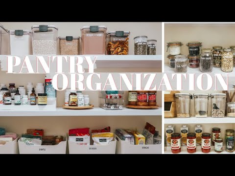 ULTIMATE PANTRY ORGANIZATION 2020 | Pantry Makeover | Organize Your Life in 2020 | Becca Bristow