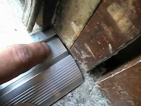 Vinyl Aluminum Threshold Installation Pt 1 This Old Friggn House