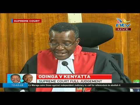 Chief Justice David Maraga's individual judgement