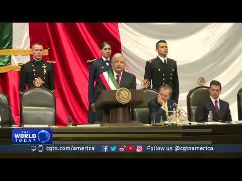 Mexico's new president Lopez Obrador inaugurated