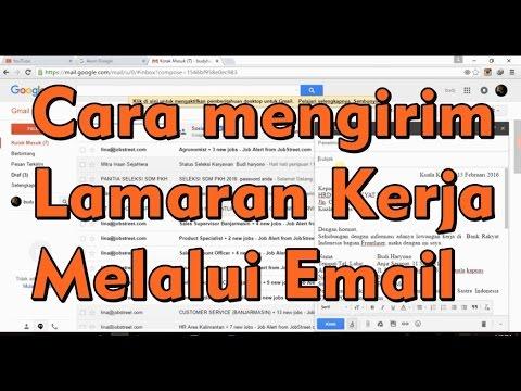 Cara Mengirim Lamaran Kerja Melalui Email Youtube