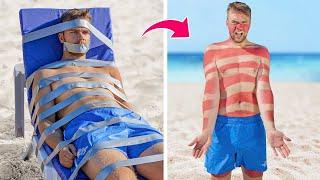 11 مقلب مضحك للصيف! / حروب مقالب الشاطئ