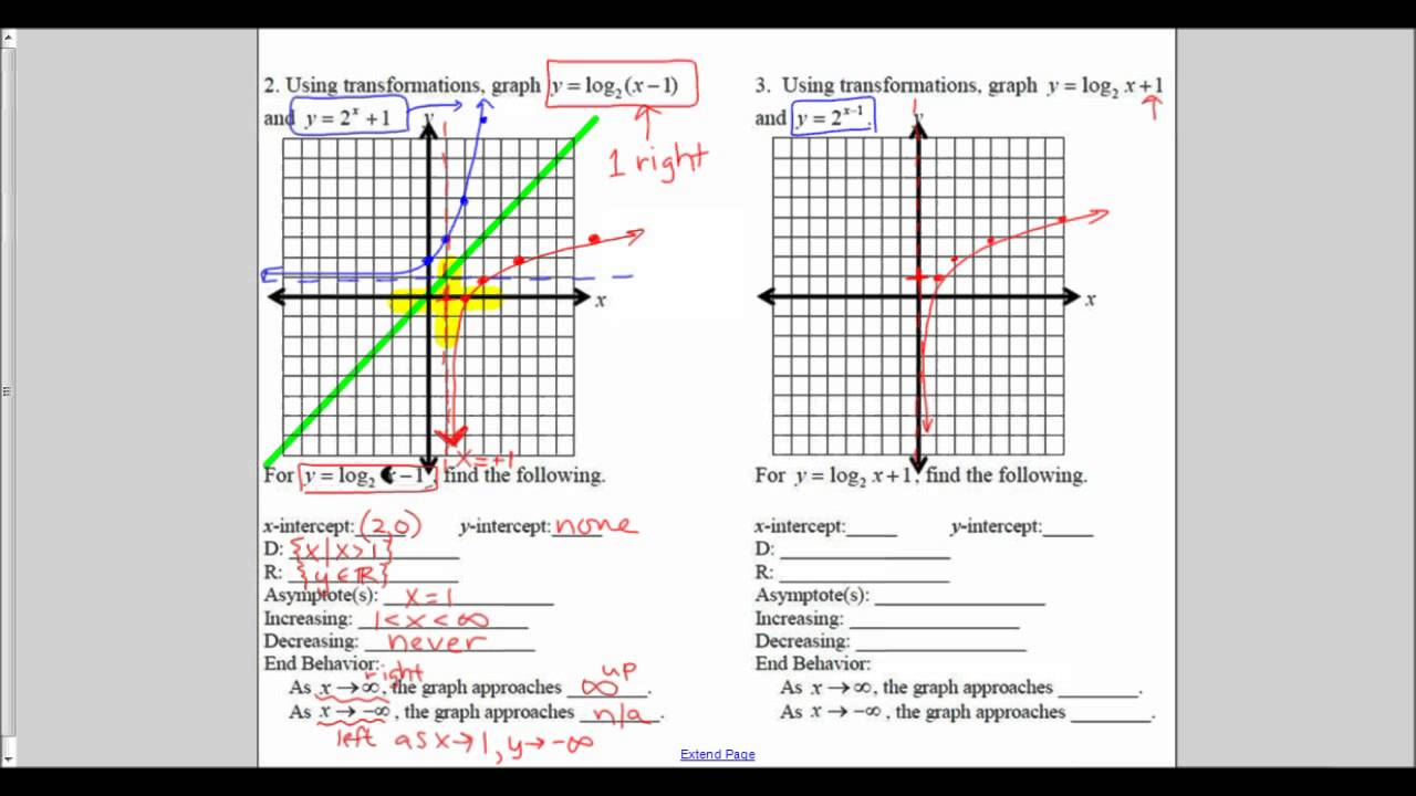 Base 2 Logarithm Graphs without a calculator - YouTube
