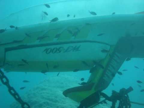 diving Antalya sunken jet