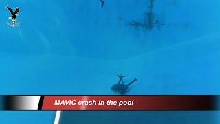 DJI MAVIC drone crash in the pool.