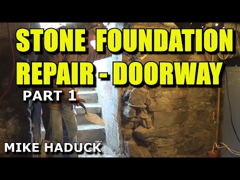 Stone foundation repair (inside) part 1 of 6 (.Mike Haduck)