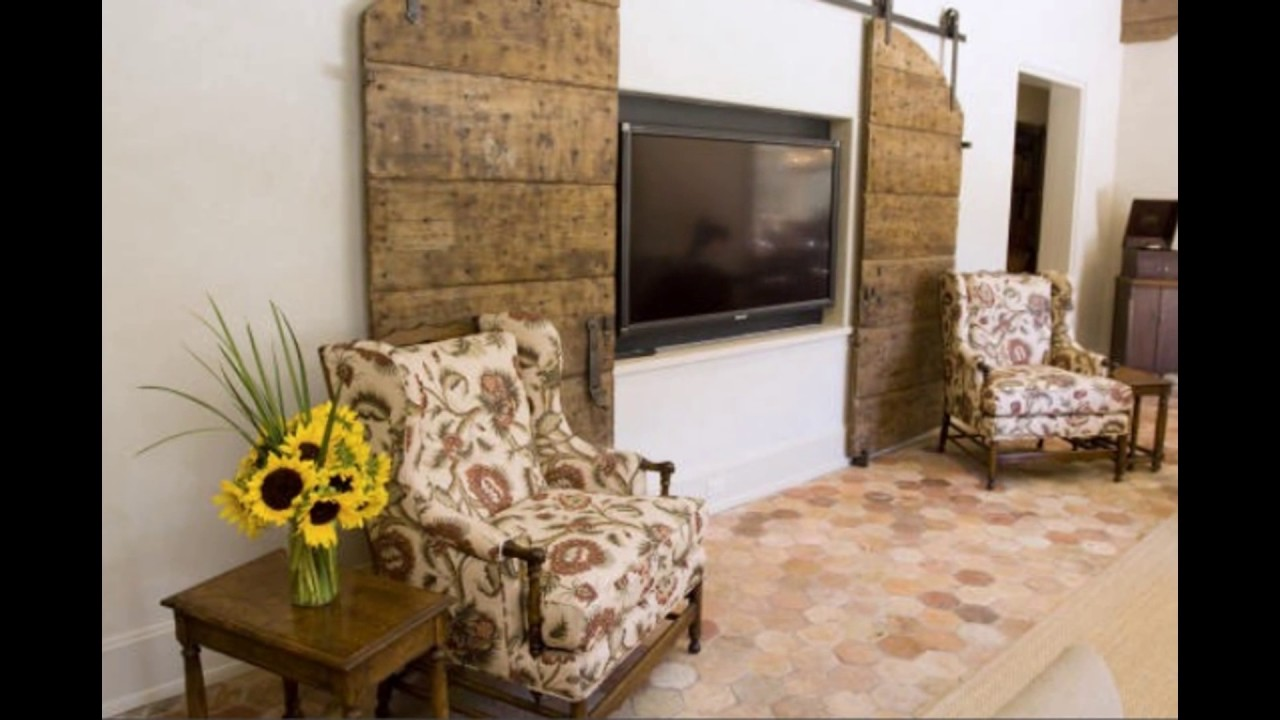 door fireplace barns tv reclaimed pin doors cover over to from barn tractor used conceal track supply
