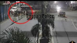 Bus Vs Bike Accident | Great Support by Police & Public | Tirupati Police