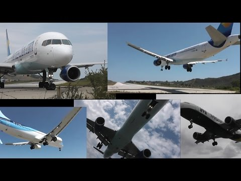 Extreme Planespotting Skiathos 2014 | 2 HOURS LONG! | Low Landings, Close-Ups & Jet Blast!!