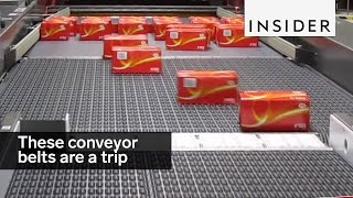 These conveyor belts are a trip