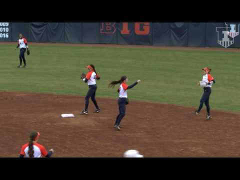 Illinois Softball Highlights vs Illinois State | 3-29-17