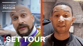 Jingle Jangle's John Legend & Keegan-Michael Key Take You on a Set Tour | Netflix