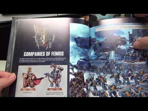 Jafo unboxes first look at space wolves codex |