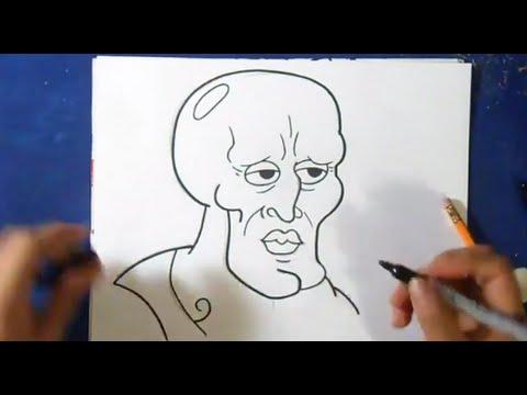 Comment Dessiner Carlo Le Calamar Beau Bob L éponge Youtube