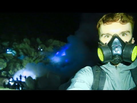 IJEN BLUE FIRE VOLCANO IN EAST JAVA, INDONESIA 🇮🇩