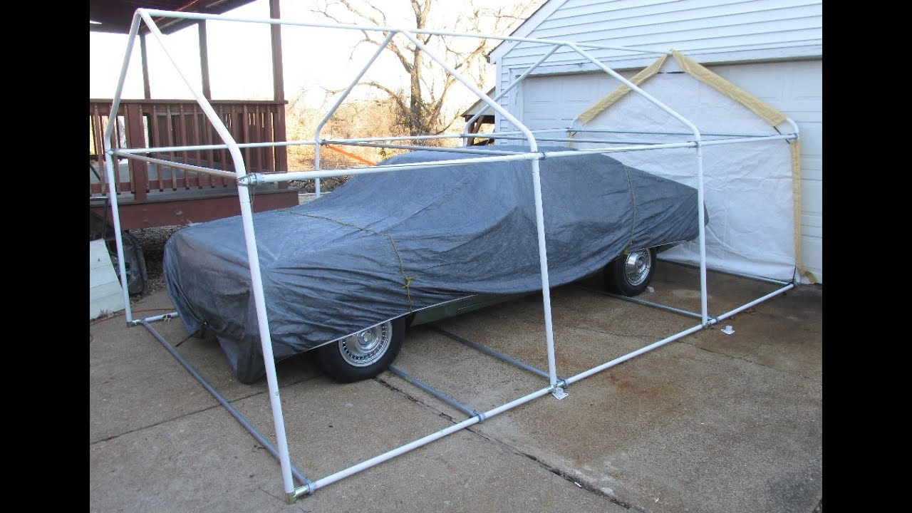 Green Harbor Freight Portable Garage : Harbor freight portable garage upgrade with added bracing