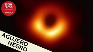 Así es la primera foto de un agujero negro