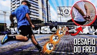 Pancada no goleiro com a mão amarrada! - Feat Thiago Ventura