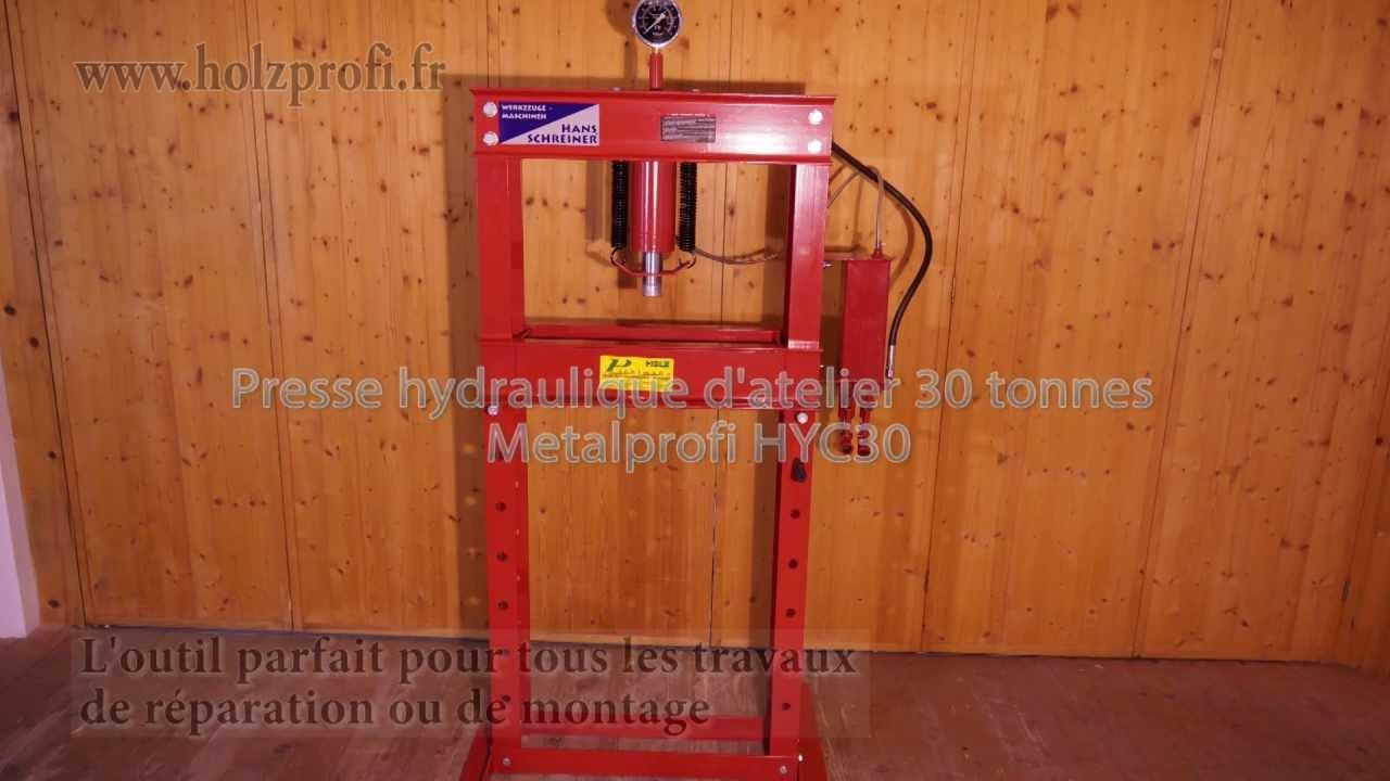 presse hydraulique d 39 atelier hyc30 metalprofi pour presser plier et aligner youtube