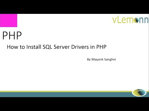 How to Install SQL Server Drivers in PHP
