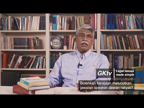 Bolehkah Kerajaan Melucutkan Jawatan Yang Di-Pertua (Speaker) Dewan Rakyat?