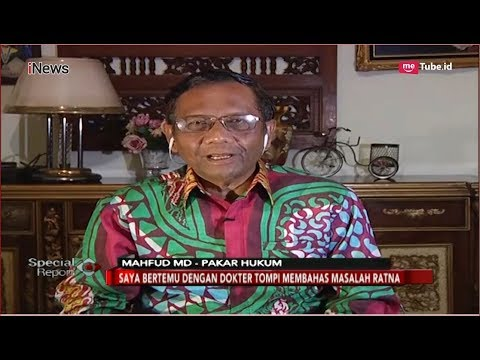 Mahfud MD Jabarkan Hukum Pidana yang akan Menjerat Ratna Sarumpaet - Special Report 05/10