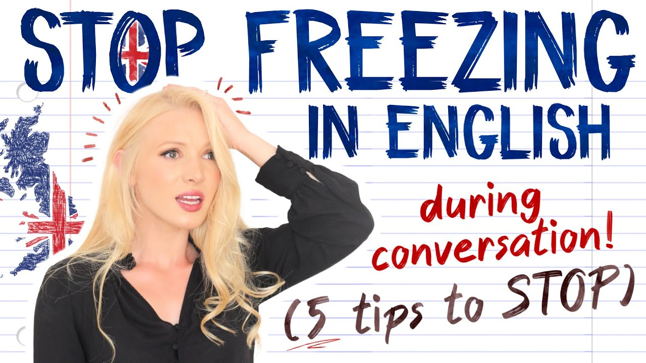 STOP FREEZING in English when you CAN'T REMEMBER a word! Improve English Conversation