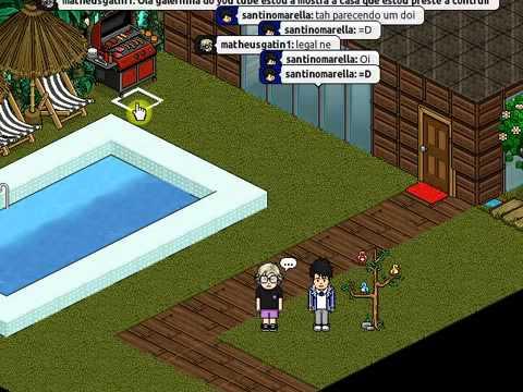 Minha casa de praia no habbo hotel youtube for Casa moderna de habbo