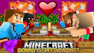 DONNY IS SPEED DATING w/ DONUT THE DOG!! - Minecraft - Little Donny Adventures.