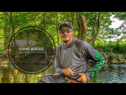 Fishing Montage - Smallmouth Bass -Trout - Creek And River Fishing