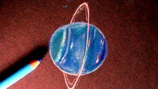 Drawing / Speedpaint URANUS (the planet!!) How to draw URANUS!