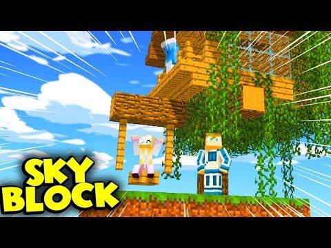 JULIA I JEJ DOM NA DRZEWIE XD - Minecraft Skyblock #6