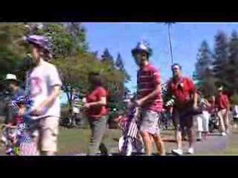 July 4 Children's Parade in Cupertino, California