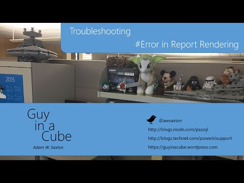 #Error Rendering Error in Reporting Services