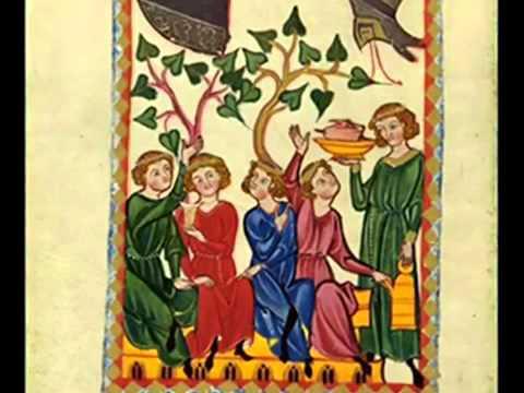Istu vinum bonum vinum vinum generosu - Micrologus - Codex Manesse.