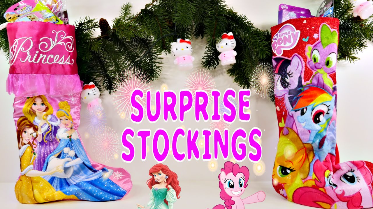 surprise christmas stockings disney princesses my little pony toys