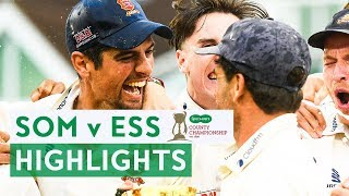 Essex Win County Championship Title! | Somerset v Essex | Specsavers County Championship