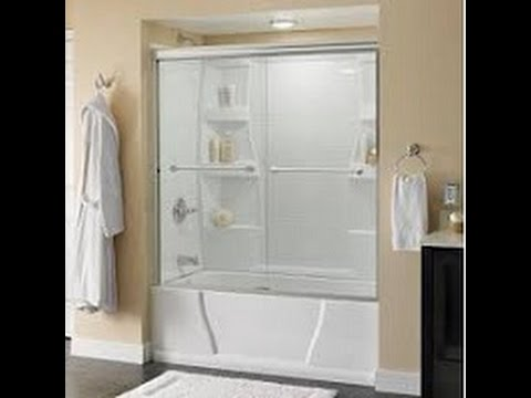 & How to install a Delta Tub and Shower Sliding Glass doors - YouTube