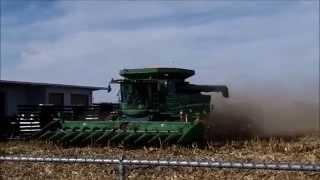 John Deere S680 with a 12 Row Corn Head