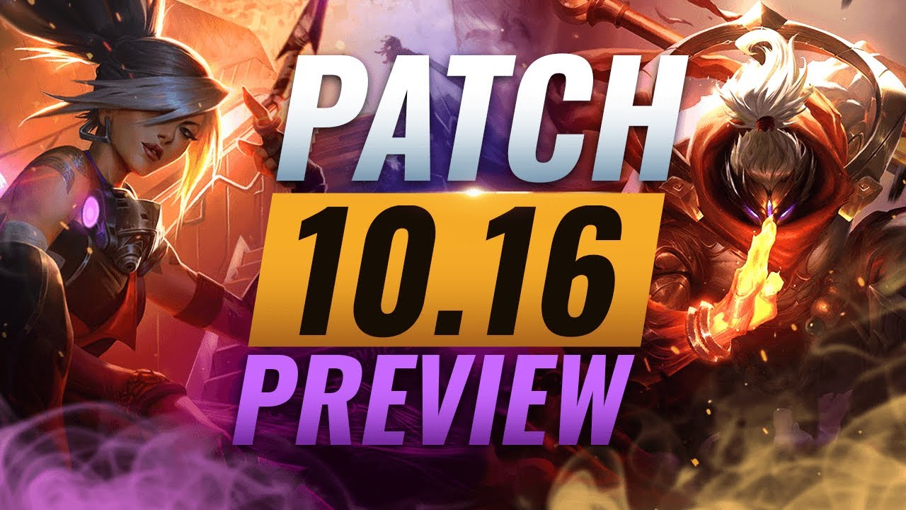 NEW PATCH PREVIEW: Upcoming Changes List for Patch 10.16 - League of Legends Season 10 thumbnail