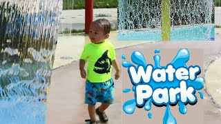 Water Park Fun For Kids And Red Doberman Pinscher, Splash Pad Slide Party Videos For Children