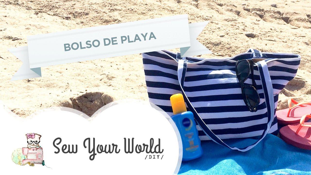 Como Hacer un Bolso de Playa #DIY - YouTube