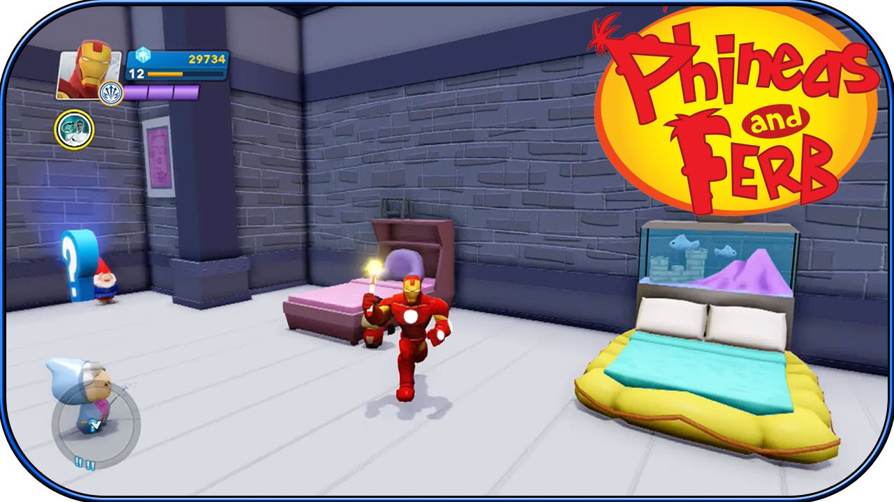 Disney Infinity 2 0 Phineas And Ferb Room Interiors