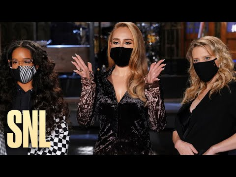 Adele Impresses H.E.R. and Kate McKinnon with Her American Accent - SNL